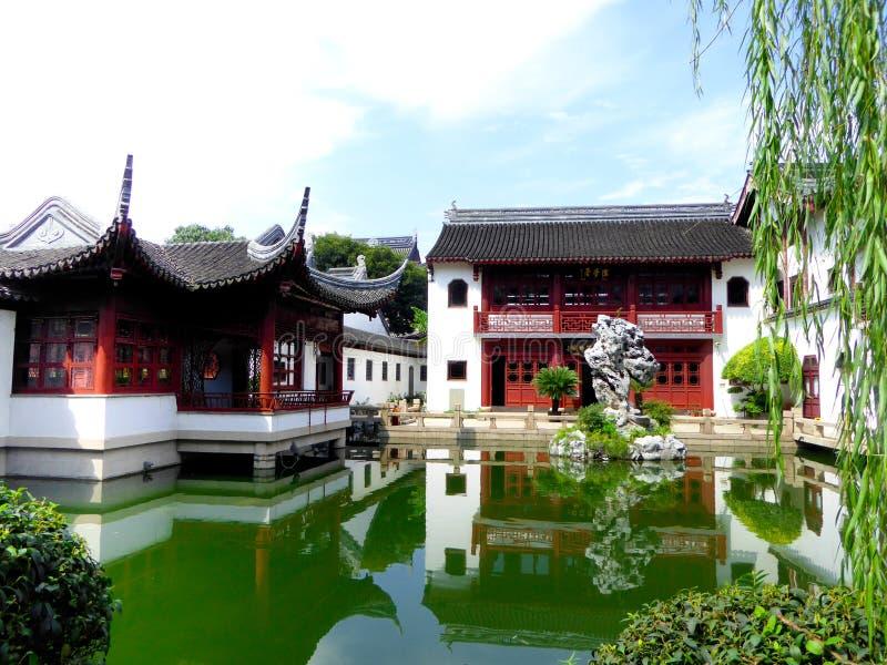 Confucious tempelbyggnader arkivfoton
