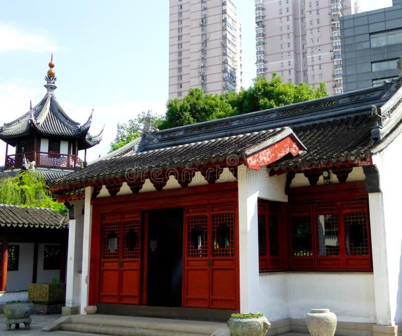Confucious tempelbyggnader royaltyfria bilder