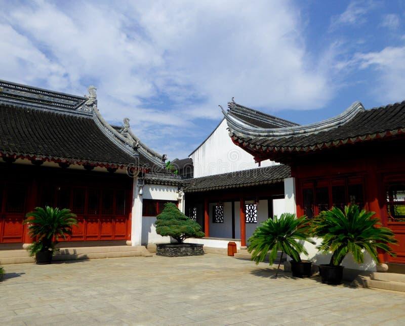 Confucious tempelbyggnader arkivbilder