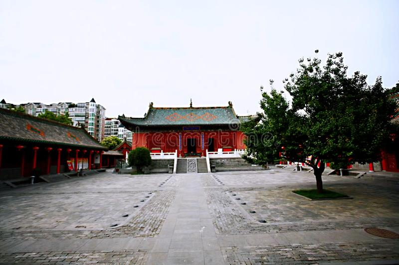 Confucious'temple in Zhengzhou. Was the oldest and most extensive and largest ancient architectural complex in Zhengzhou. According to the chronicles of stock photography