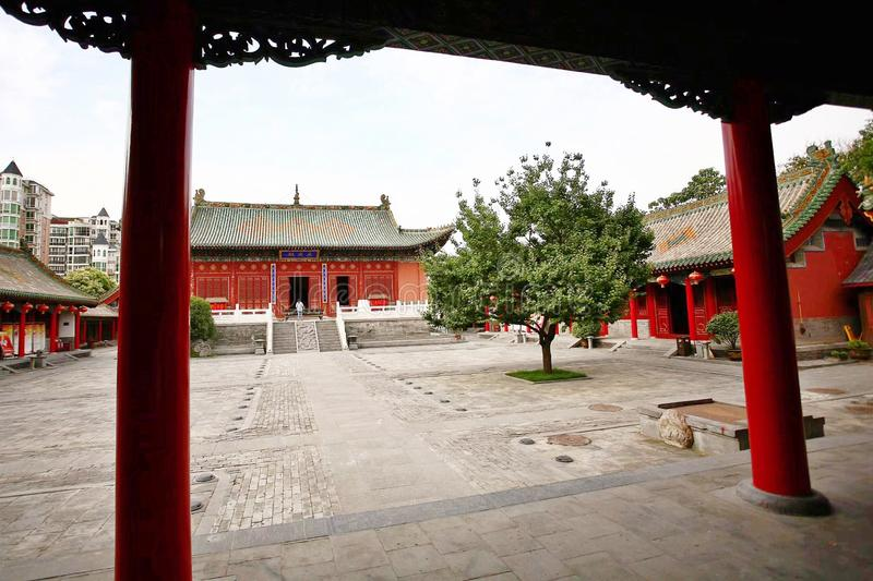Confucious& x27;temple in Zhengzhou. Was the oldest and most extensive and largest ancient architectural complex in Zhengzhou. According to the chronicles of stock images