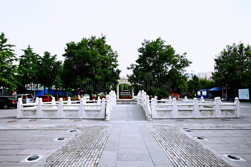 Confucious'temple in Zhengzhou. Was the oldest and most extensive and largest ancient architectural complex in Zhengzhou. According to the chronicles of stock images