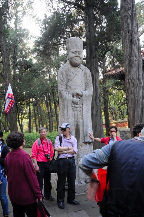 Confucius Rodzinni Cmentarniani goście zdjęcia stock