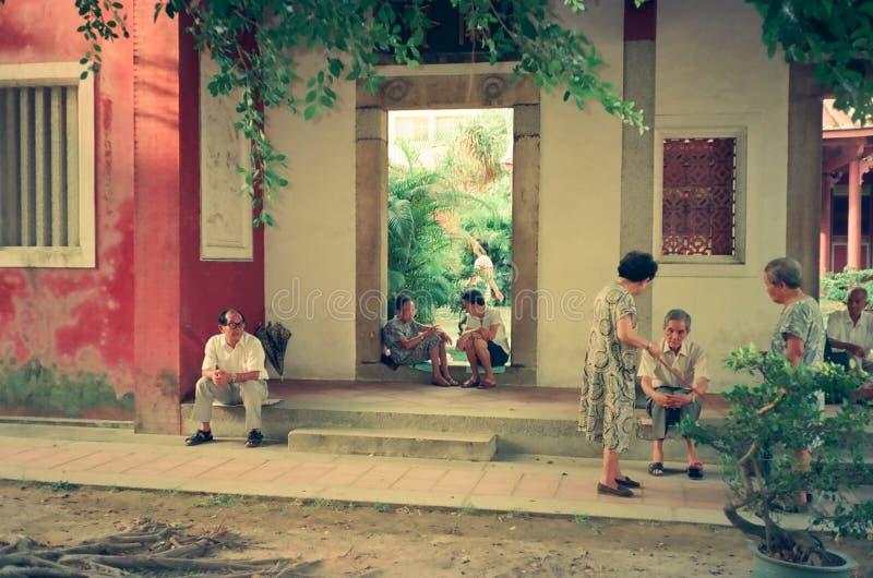 confucius tainan tempel royaltyfria foton