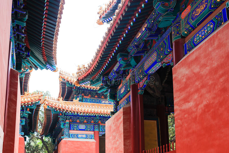 Confucius temple, Beijing, China royalty free stock images