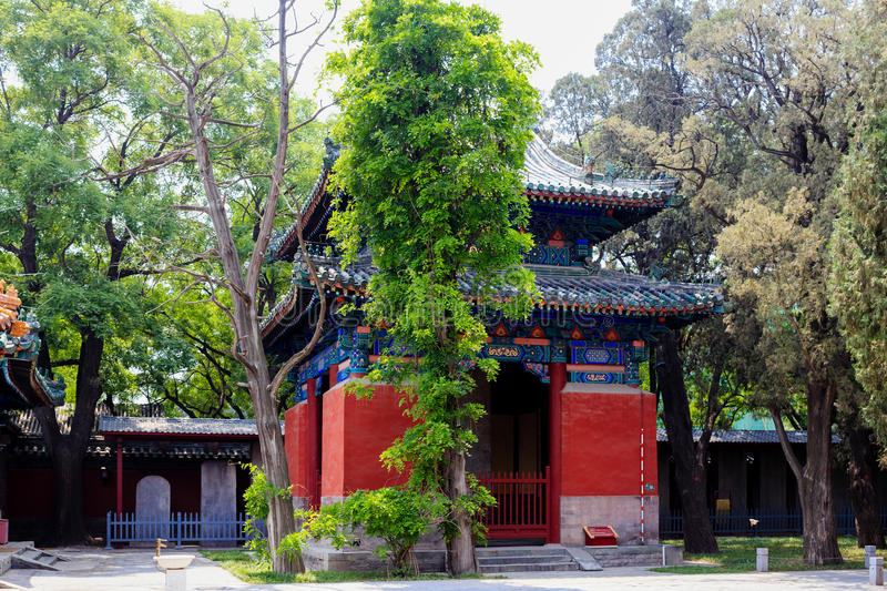 Confucius temple, Beijing, China royalty free stock photography