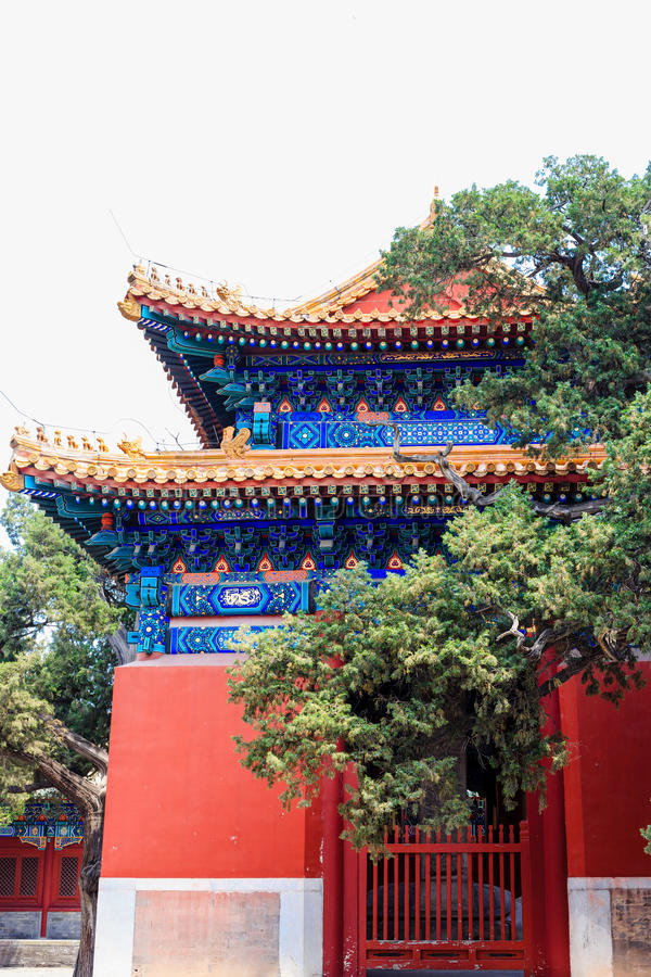 Confucius temple, Beijing, China stock photography