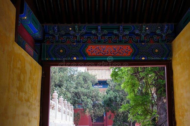 Confucius temple, Beijing, China stock images