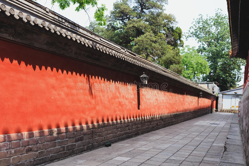 Confucius temple, Beijing, China royalty free stock image