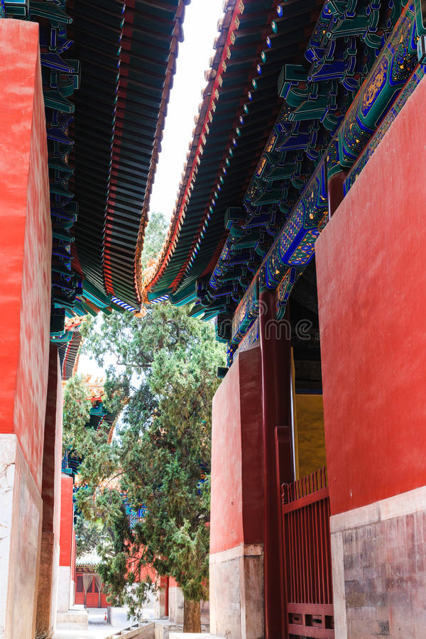 Confucius temple, Beijing, China stock image