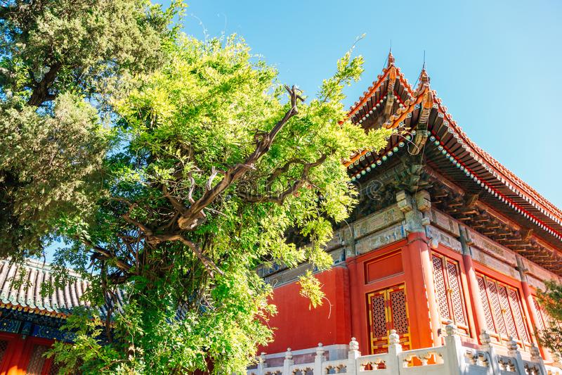 Confucius Temple, Historical architecture in Beijing, China stock photos
