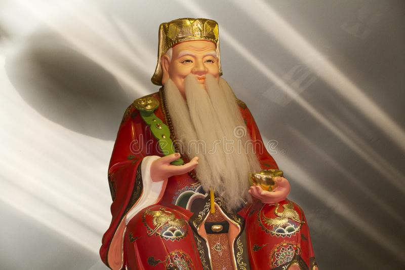 Ancient Chinese wise man stock image