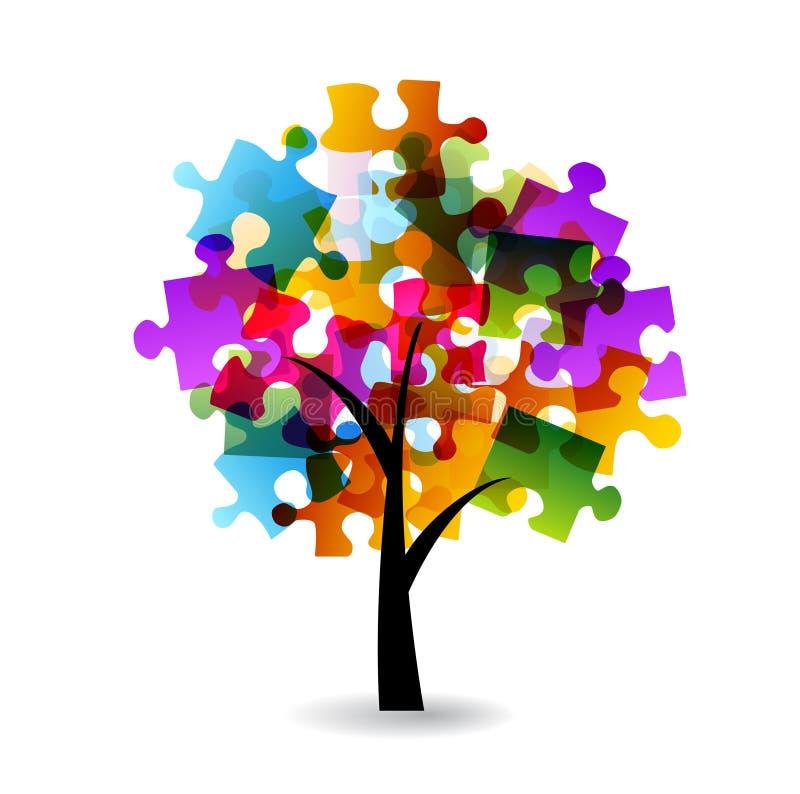 Confunda a árvore ilustração stock