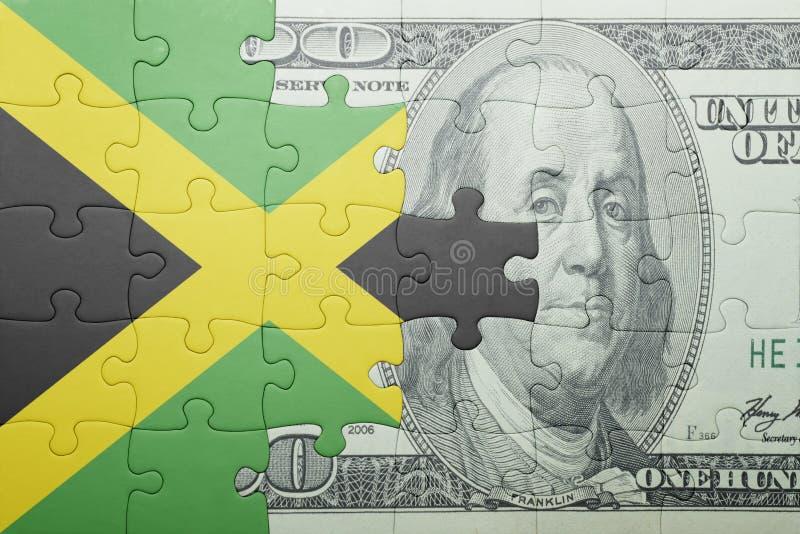 Confunda com a bandeira nacional da cédula de jamaica e de dólar fotos de stock royalty free