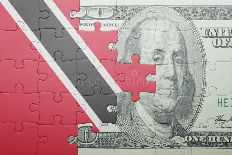 Confunda com a bandeira nacional de Trinidad and Tobago e de cédula do dólar foto de stock royalty free