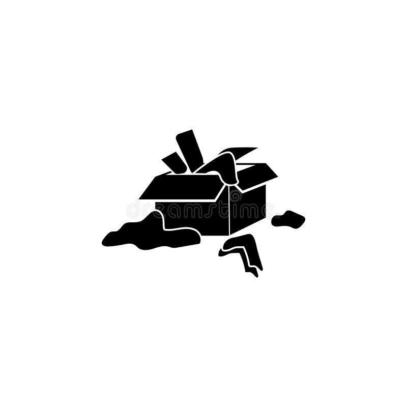 confusão com ícone das coisas Ilustração da desordem psicológica do ícone dos povos Projeto gráfico da qualidade superior Sinais  ilustração do vetor