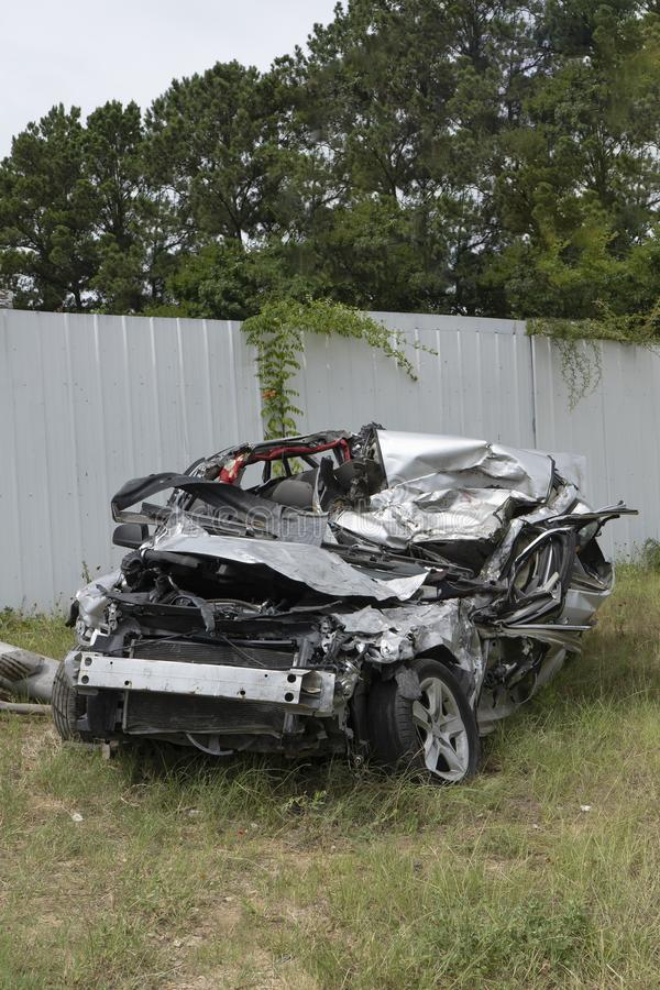 Confusão conduzindo o acidente fatal & as vítimas mortais foto de stock