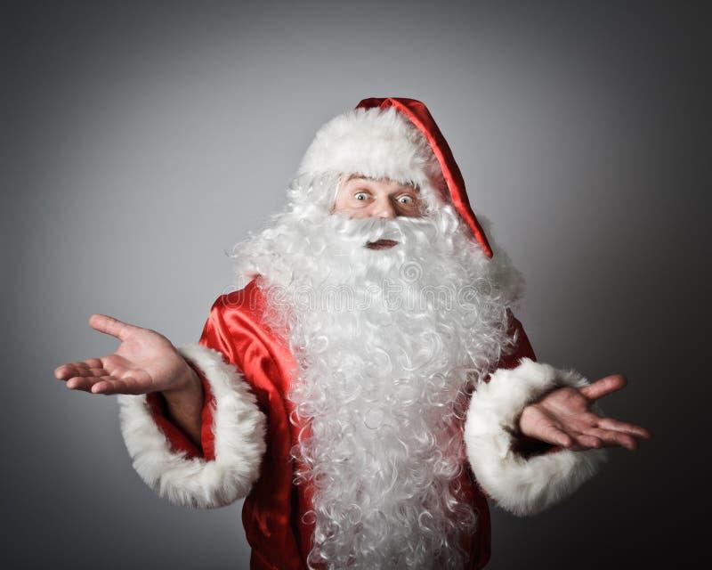 Confusão de Santa Claus fotografia de stock