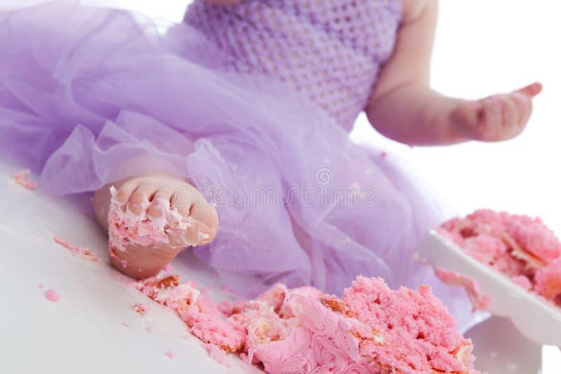 Confusão do bolo! fotografia de stock royalty free