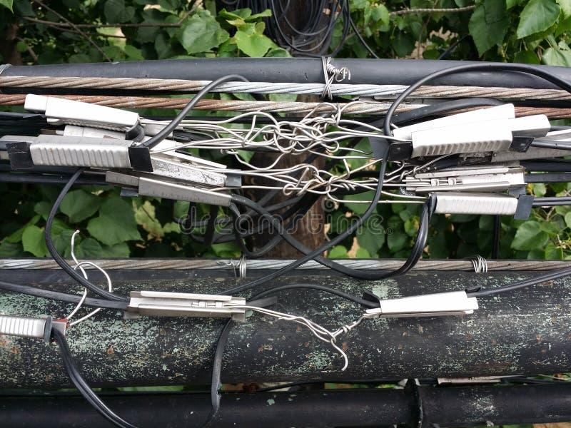 Confusão dos cabos imagem de stock