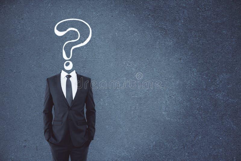 Confusão e conceito do FAQ fotografia de stock