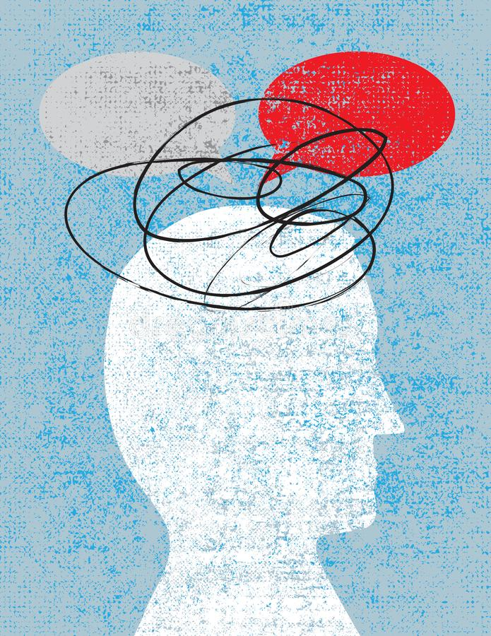 Confusão e falha comunicar-se ilustração do vetor