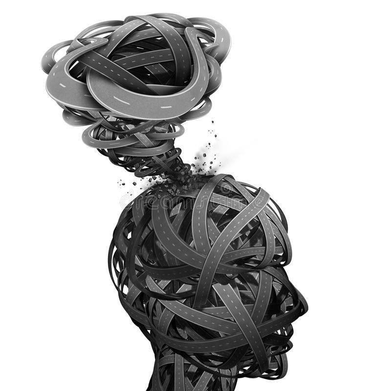 Confusão mental ilustração do vetor