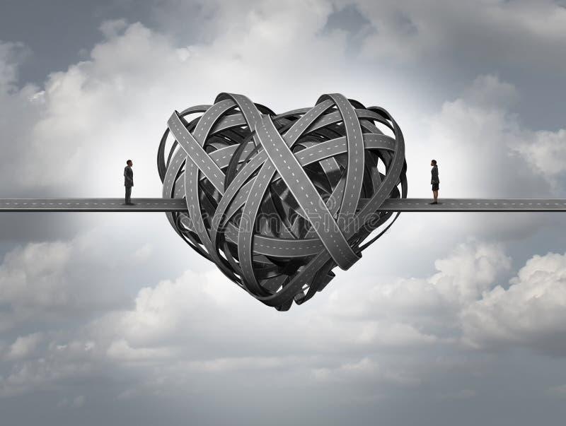 Confus au sujet de l'amour illustration stock