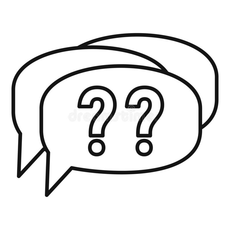 Confuse alzheimer question icon, outline style stock illustration
