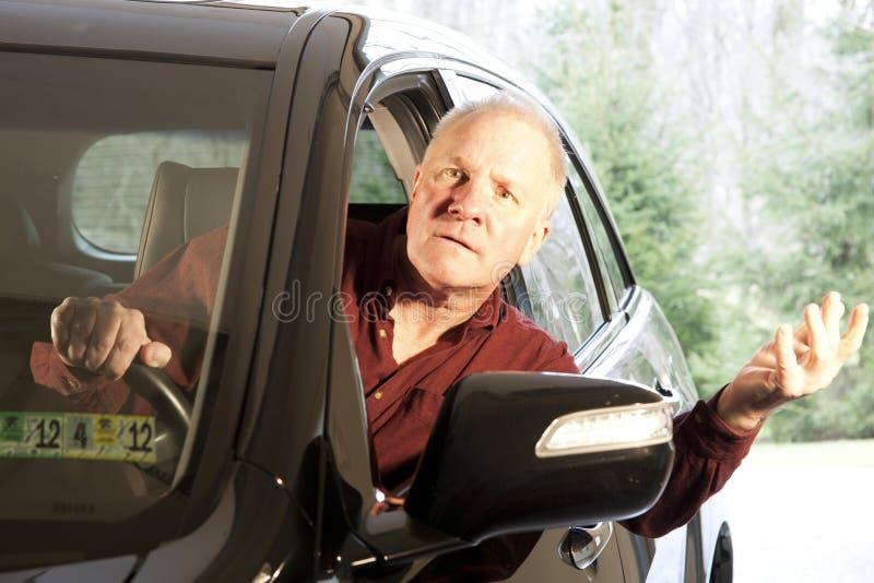 confused водитель стоковые изображения