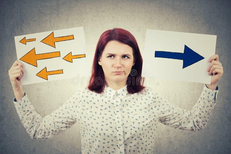 Confused молодая женщина стоковое изображение rf