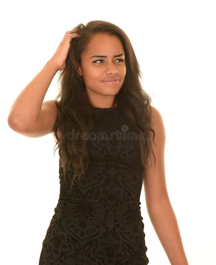 Confused предназначенная для подростков девушка стоковые фотографии rf