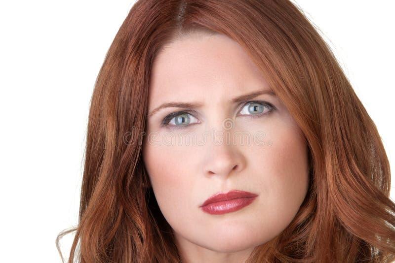 Confused смотря женщина стоковые изображения rf