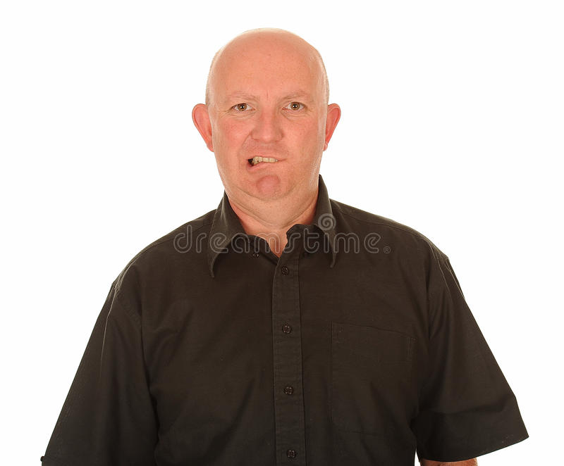 Confused Bald Man Royalty Free Stock Photos