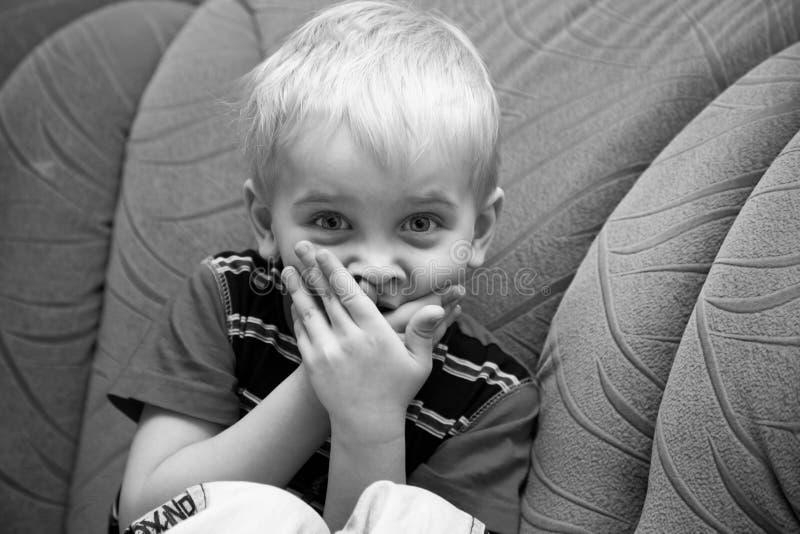 Confused boy stock photos