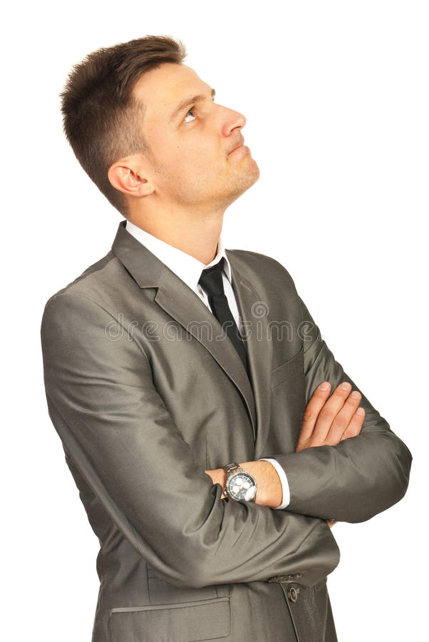 Download Confused Business Man Looking Up Stock Image - Image: 28542905