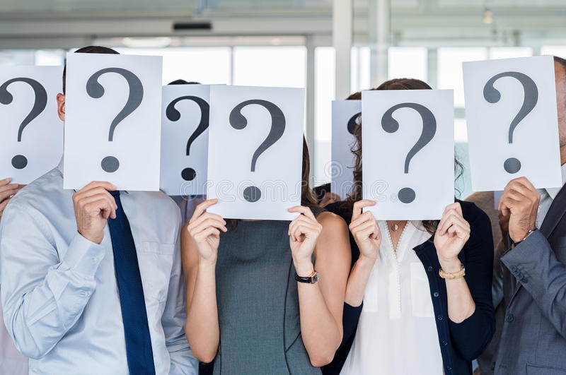 Uncertainty and problem solving stock photography