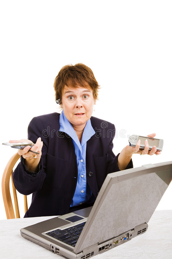 Download Confused By Business Technologies Stock Photo - Image of female, professional: 9264768