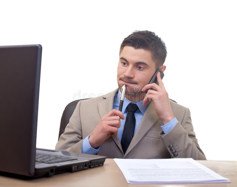 Download Confused businessman stock photo. Image of clerk, adult - 30355754