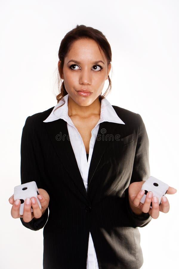 Confused businesswoman stock photos