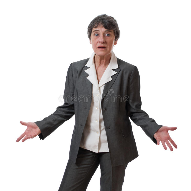 Confused businesswoman royalty free stock images