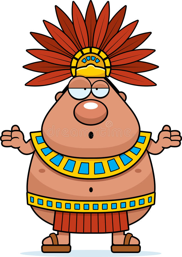 confused cartoon aztec king stock vector illustration of clipart rh dreamstime com aztec temple clipart aztec clipart black and white