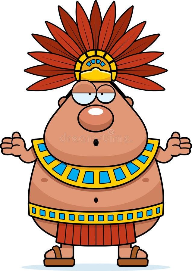 confused cartoon aztec king stock vector illustration of clipart rh dreamstime com aztec calendar clipart aztec calendar clipart