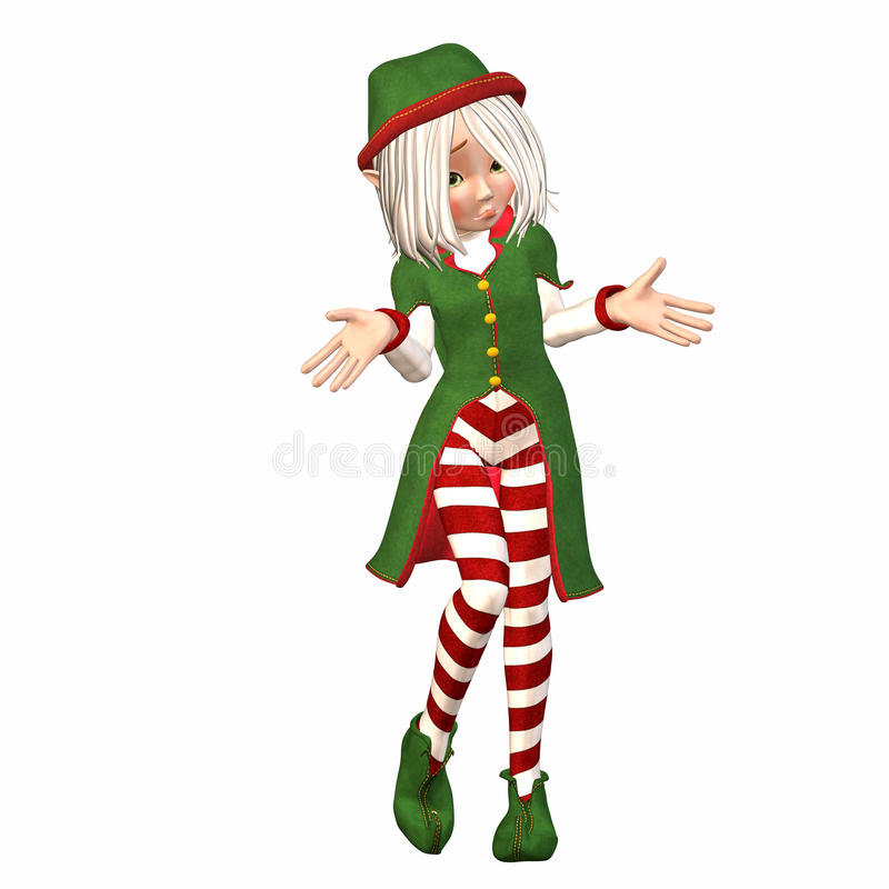 Download Confused Christmas Elf stock illustration. Image of pretty - 11043518