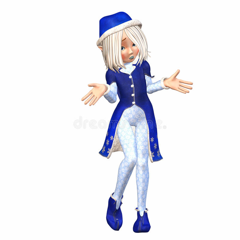 Confused Christmas Elf Royalty Free Stock Image