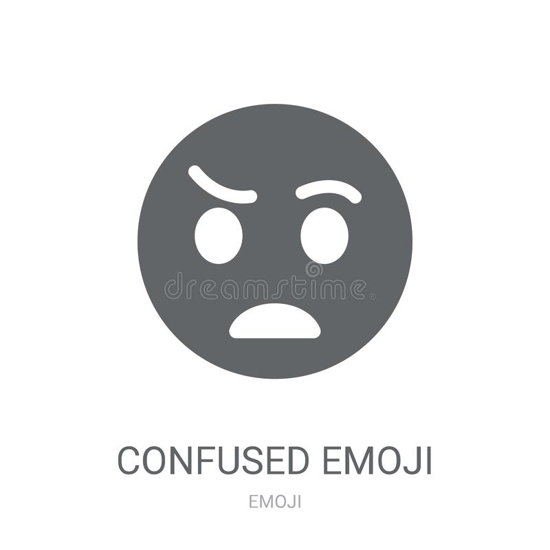 Confused emoji icon. Trendy Confused emoji logo concept on white vector illustration