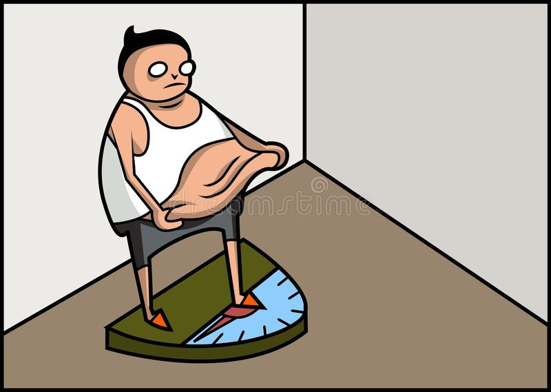 Download Confused fat man stock illustration. Image of horizontal - 21038368