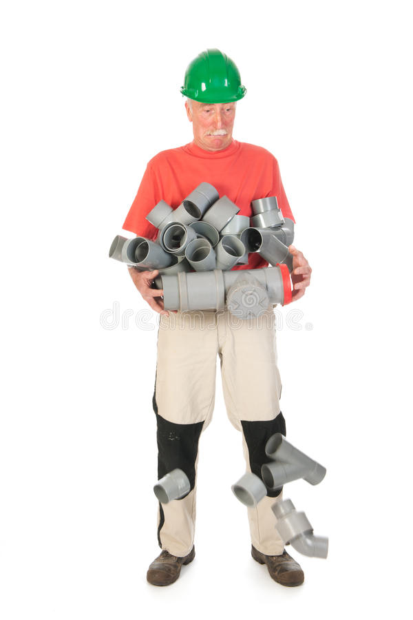 Download Confused funny plumber stock photo. Image of chloride - 33487334