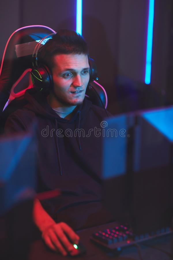Confused guy losing game royalty free stock photography
