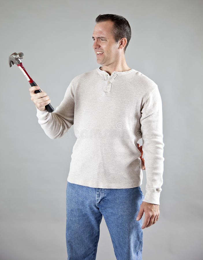 Confused Handyman Stock Images